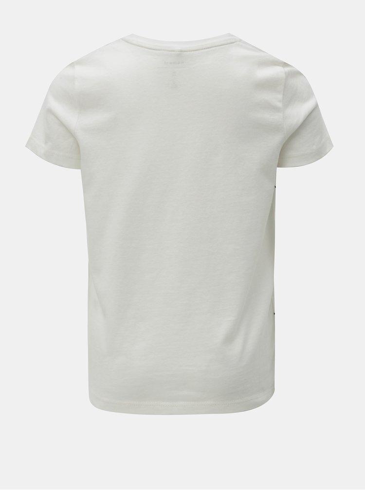 Bílé tričko s potiskem Name it Mnoller