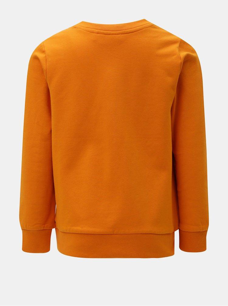 Oranžová klučičí mikina s výšivkou Name it Anok