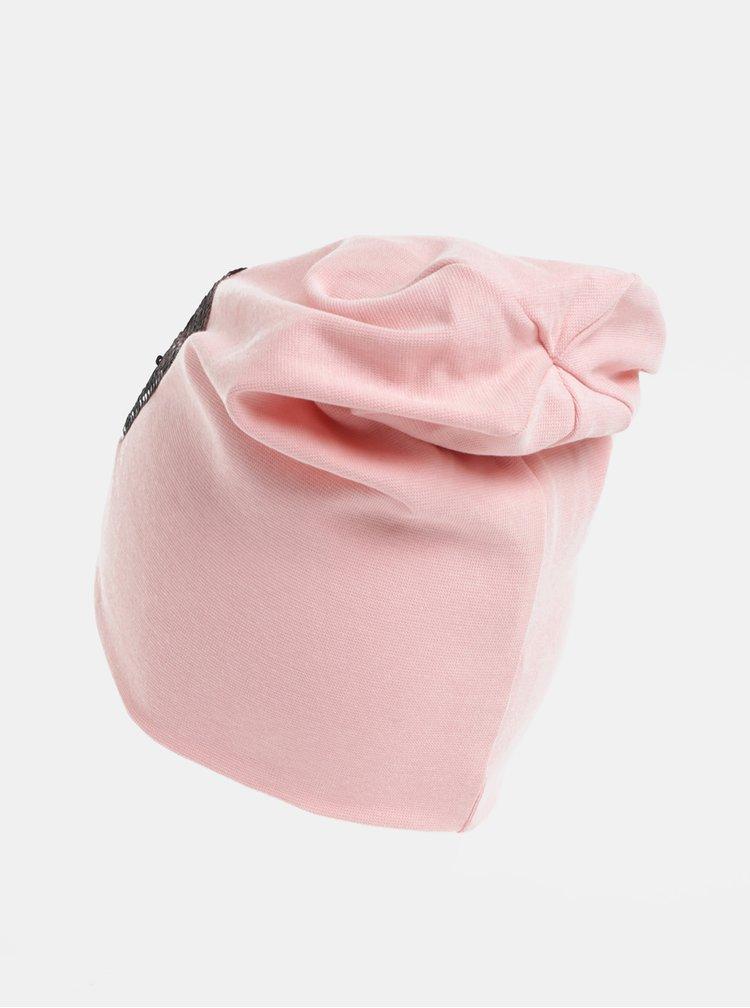 Růžová holčičí čepice s magickými flitry Name it