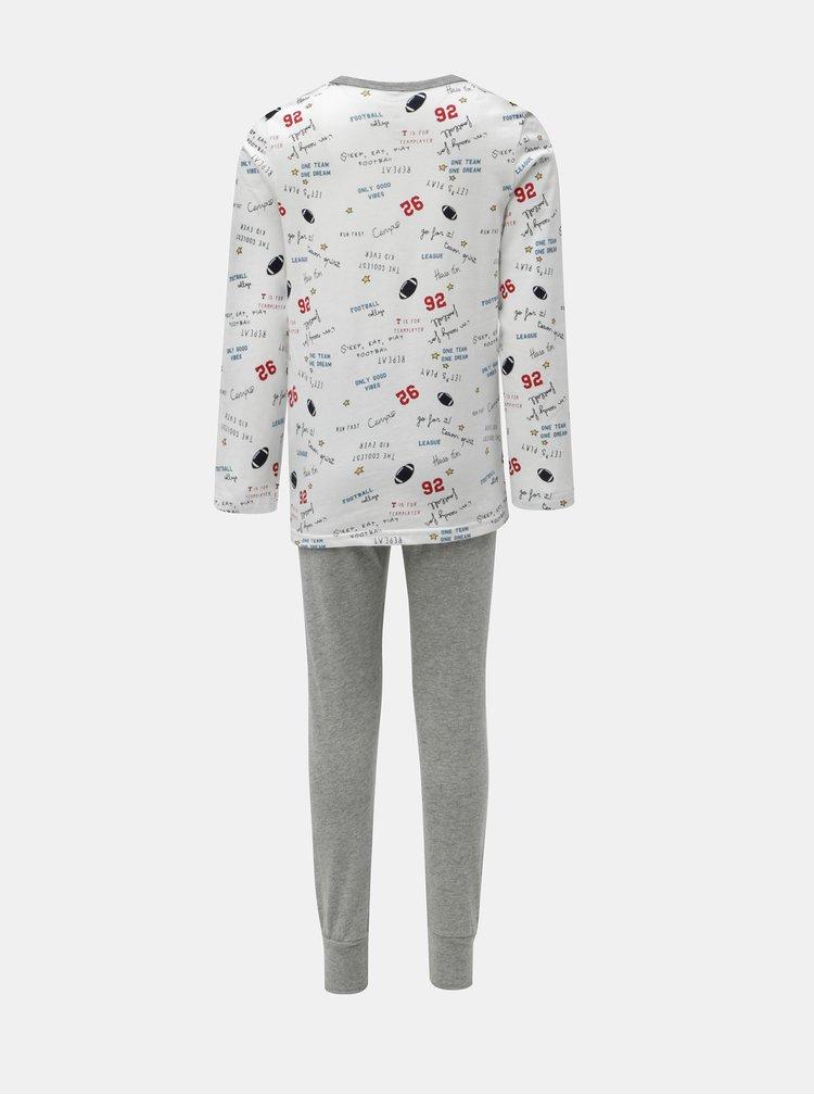Šedo-bílé klučičí dvoudílné pyžamo Name it