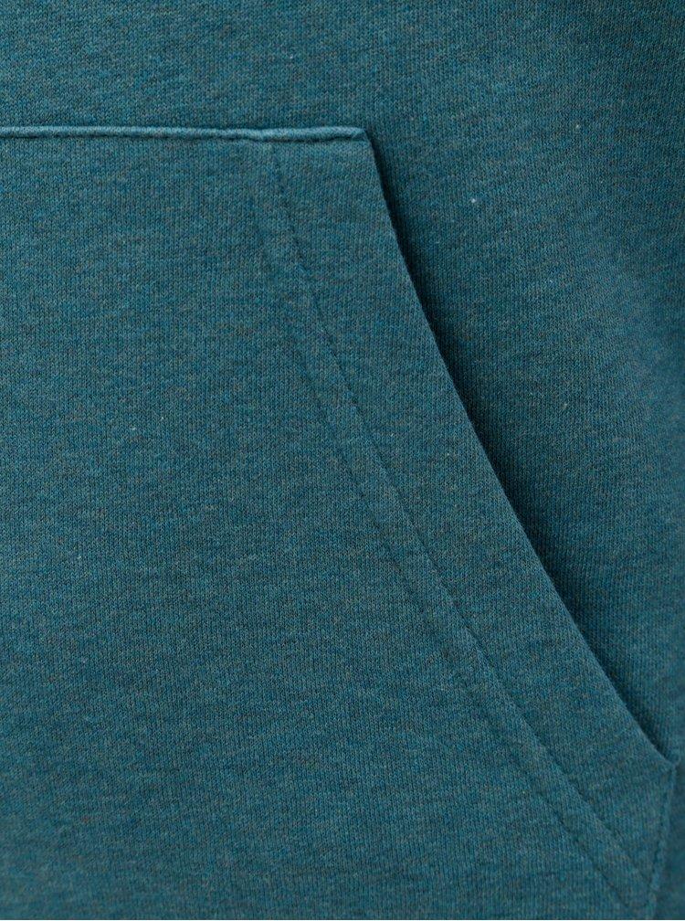 Šedo-modrá klučičí mikina s kapucí Quiksilver