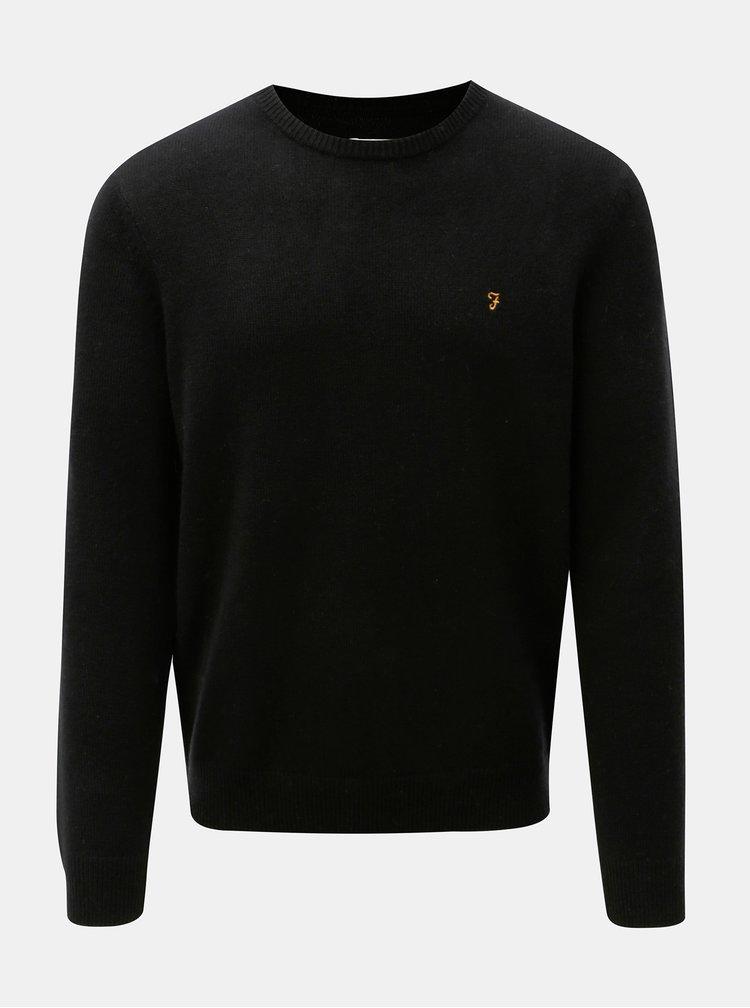 Čierny vlnený sveter Farah Rosecroft