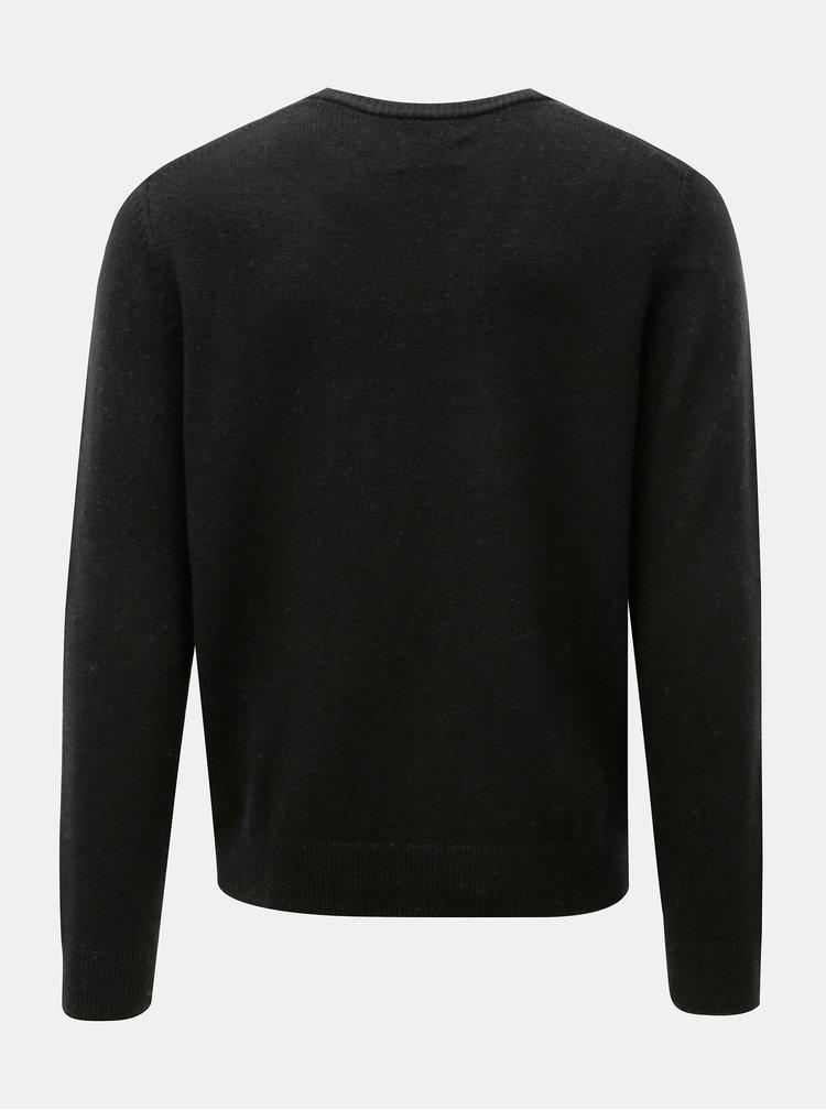Černý vlněný svetr Farah Rosecroft