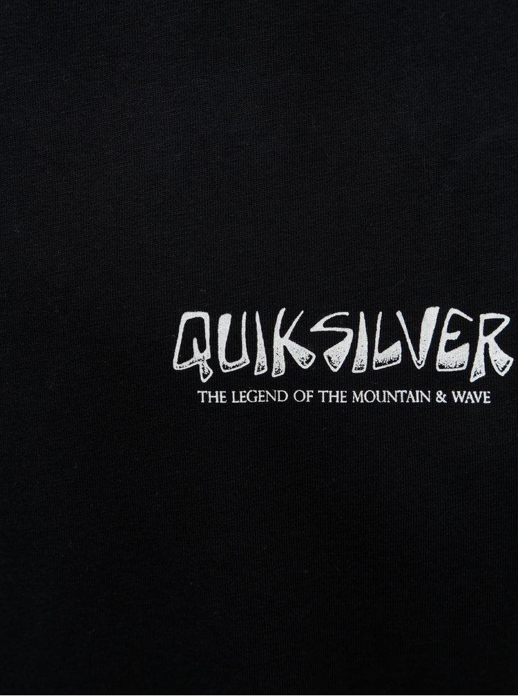 Černé pánské modern fit tričko s potiskem na zádech Quiksilver