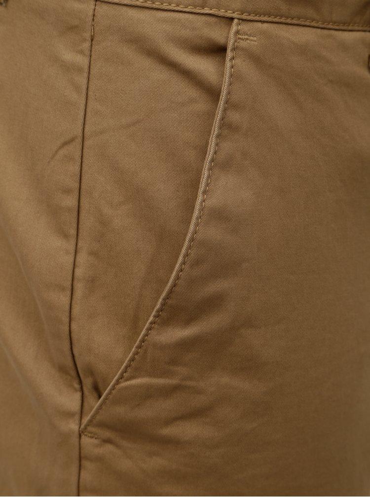 Hnědé chino kalhoty Farah Twill