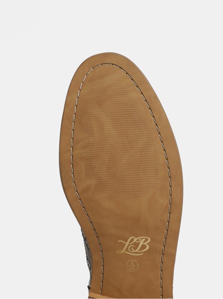 Pantofi brogue barbatesti maro inchis din piele naturala London Brogues Gatsby