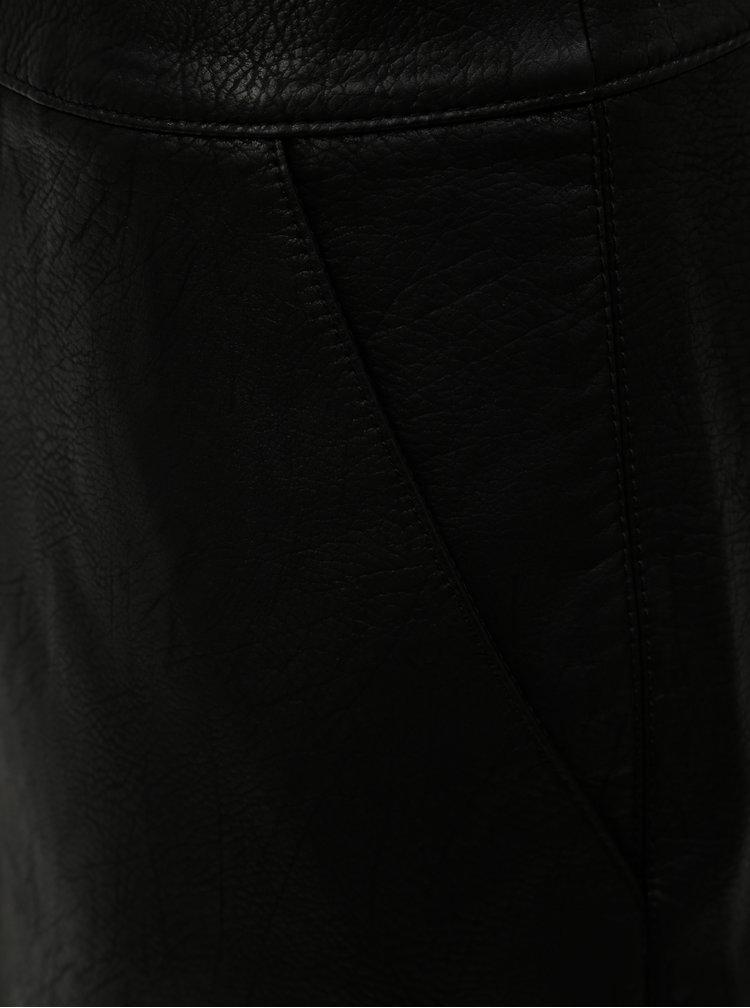 Fusta mini neagra din piele sintetica cu buzunare Dorothy Perkins