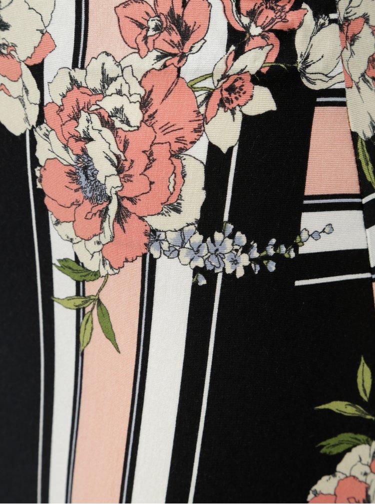 Růžovo-černá pouzdrová sukně s květinovým potiskem Dorothy Perkins