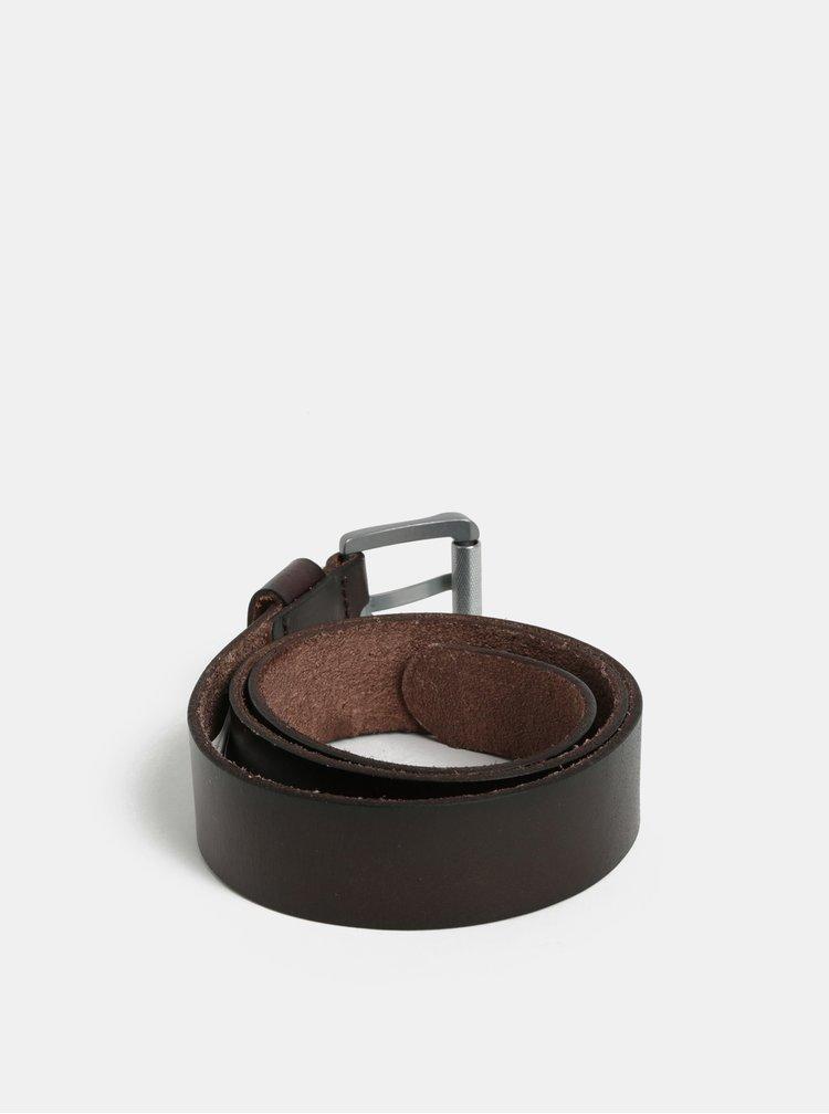 Hnědý pánský kožený pásek Quiksilver