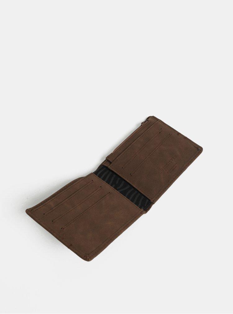 Hnědá pánská koženková peněženka Quiksilver