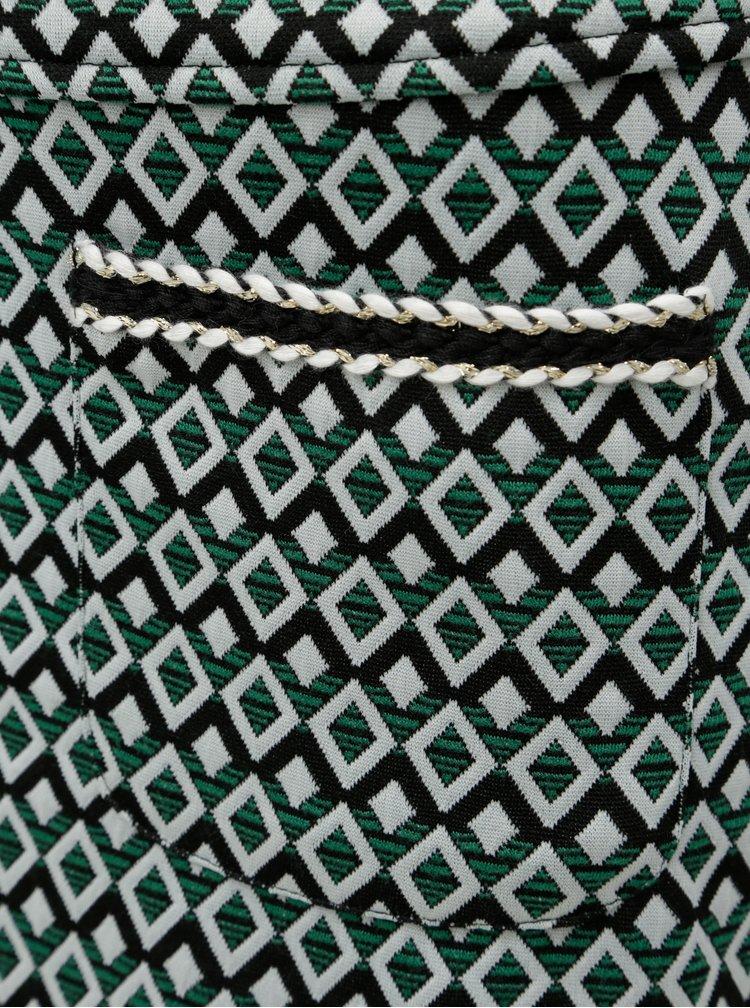 Bielo-zelená vzorovaná sukňa s vreckami Dorothy Pekrins
