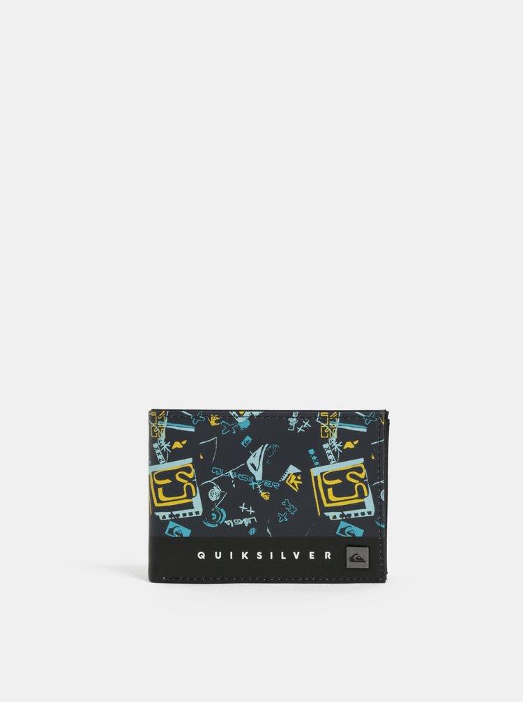 Černo-modrá pánská vzorovaná peněženka Quiksilver
