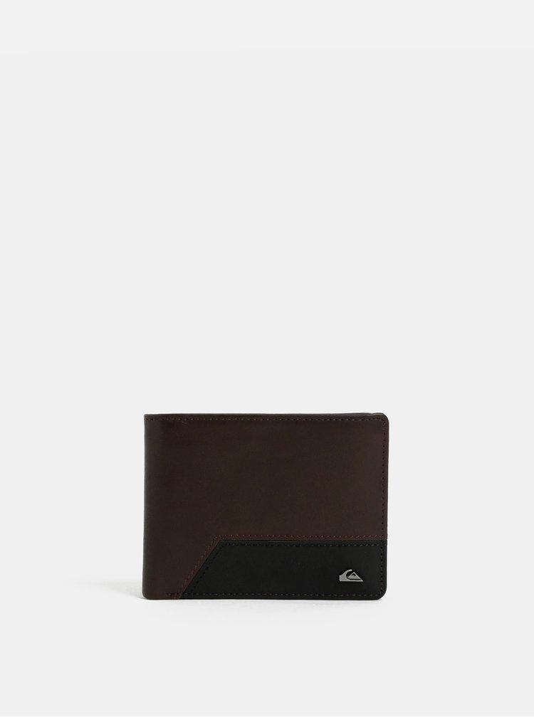 Hnědá pánská kožená peněženka s pouzdrem na doklady Quiksilver