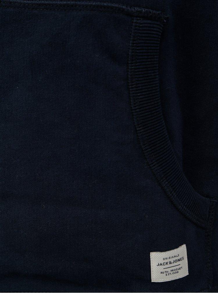 Tmavě modrá mikina s nášivkou loga Jack & Jones