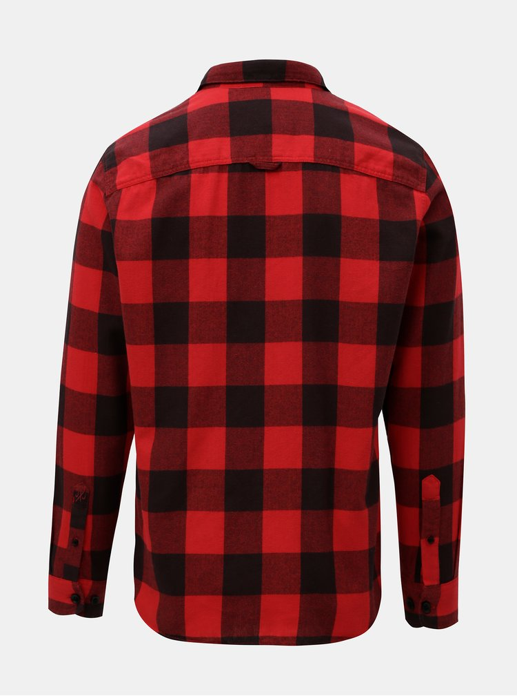 Červená kostkovaná košile Jack & Jones