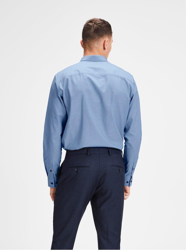 Modrá slim fit košile Jack & Jones
