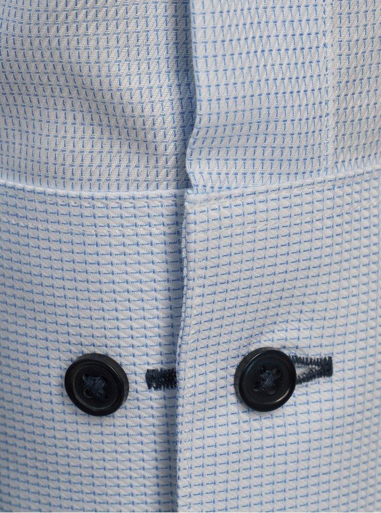 Svetlomodrá jemne vzorovaná slim fit košeľa Jack & Jones
