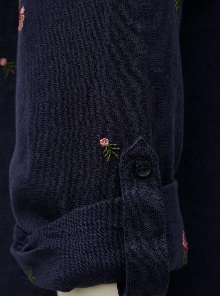 Camasa albastru inchis cu amestec de lana Dorothy Perkins