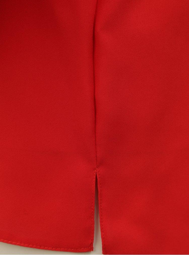 Červená blúzka s 3/4 rukávom Dorothy Perkins Petite