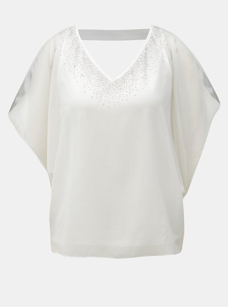 Bílá halenka s průstřihem na zádech a na ramenou Billie & Blossom Petite