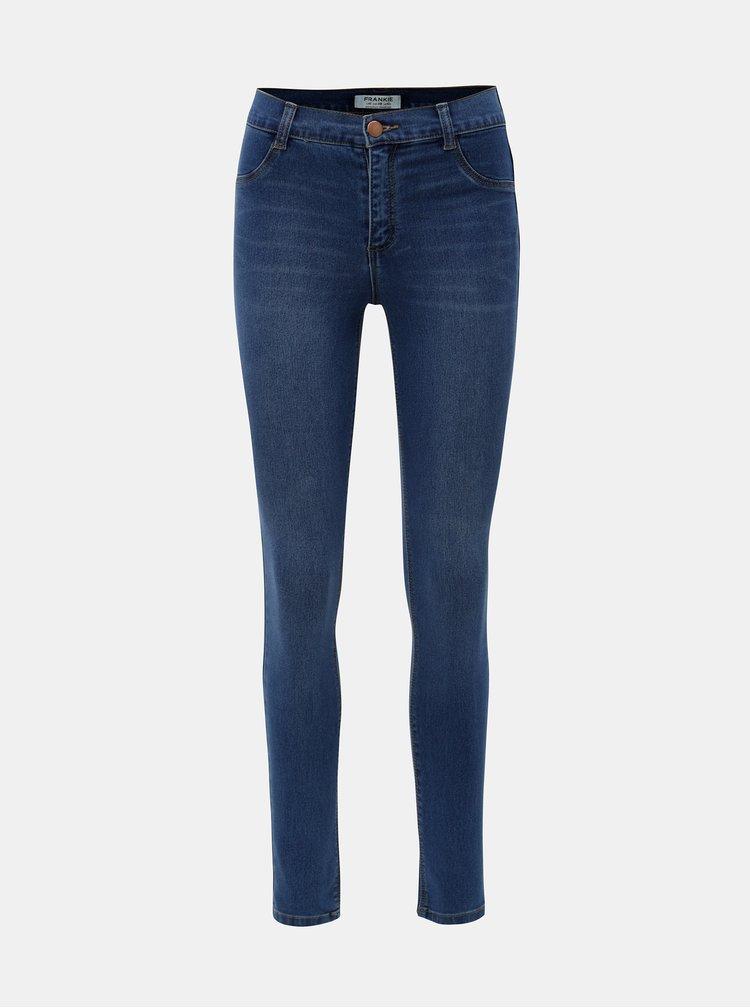 Blugi albastri regular skinny din denim Dorothy Perkins Frankie