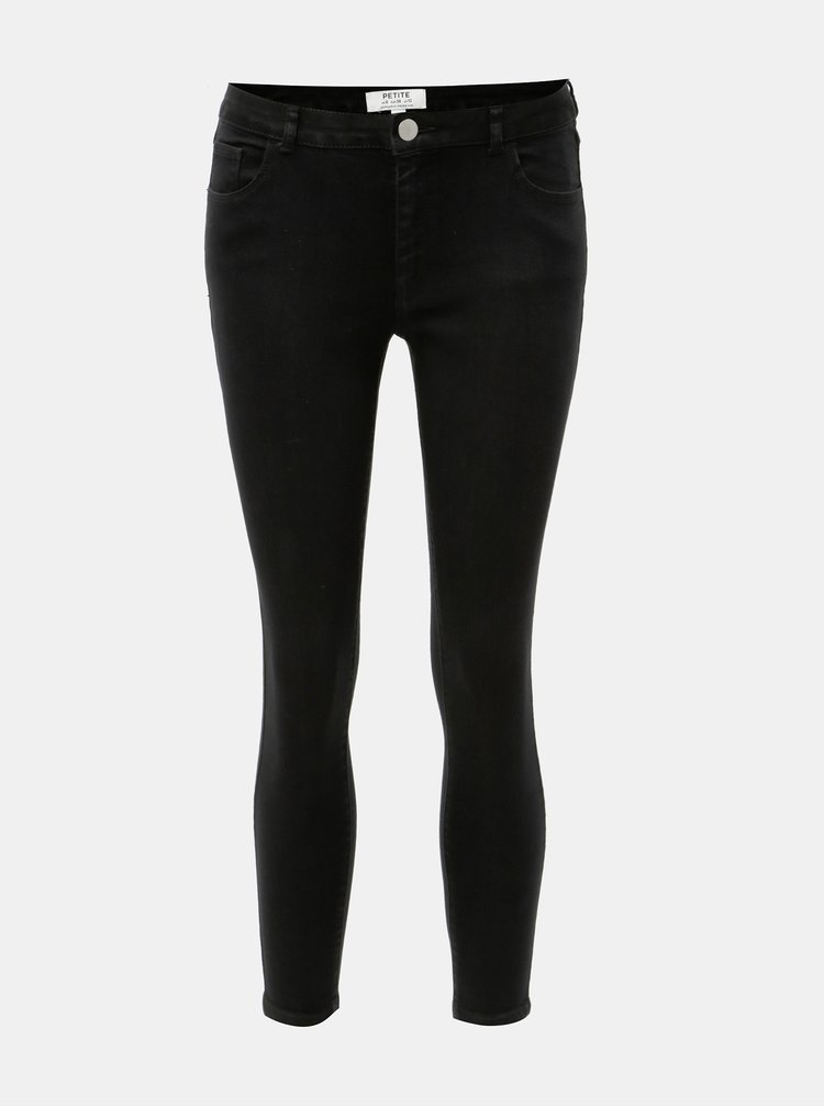 Blugi negri skinny din denim Dorothy Perkins Petite Ashley