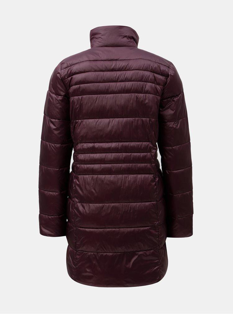 Vínový prošívaný kabát Dorothy Perkins