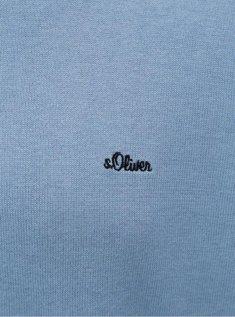 Pulover barbatesc lejer albastru deschis cu decolteu rotund s.Oliver