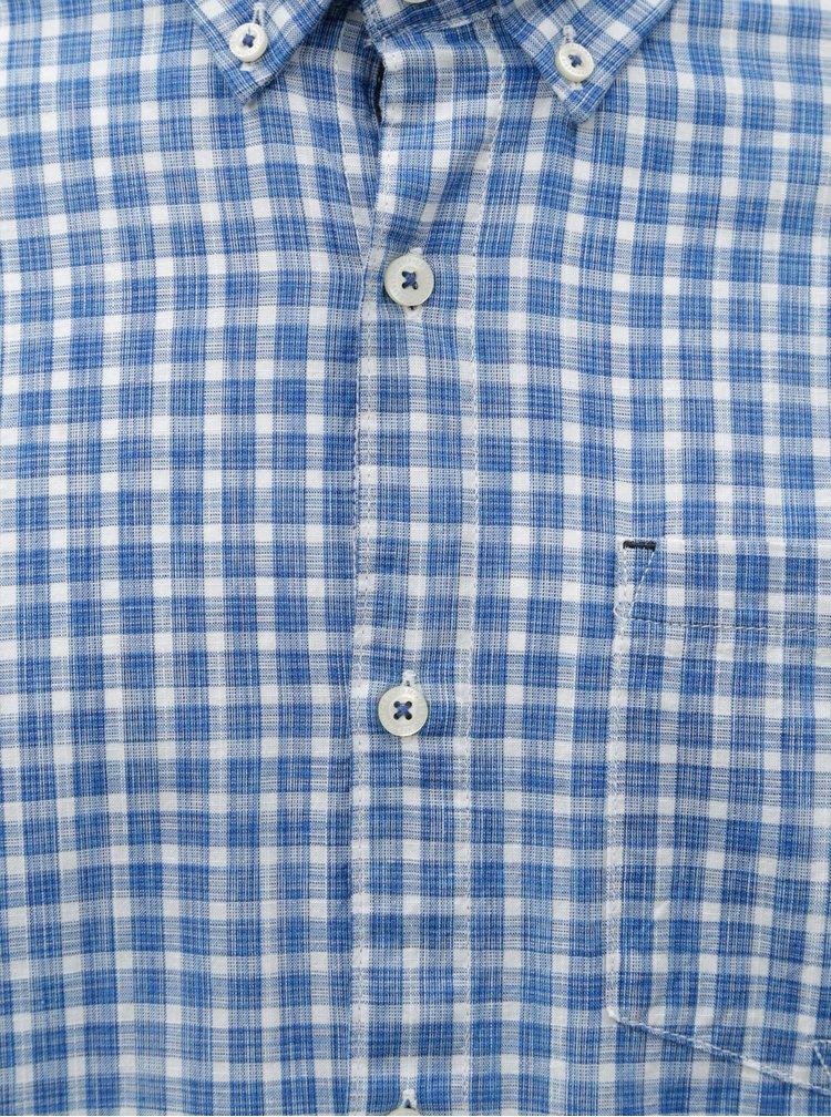 Camasa barbateasca regular fit alb-albastru in carouri s.Oliver