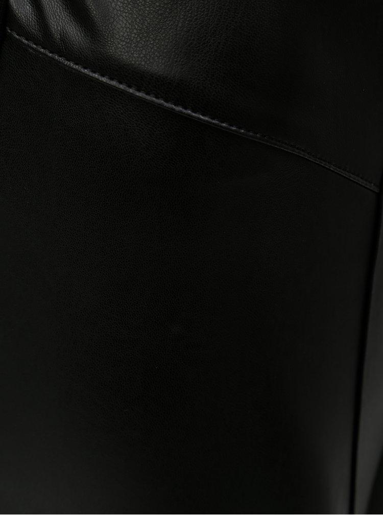 Černé koženkové legíny ONLY Maria