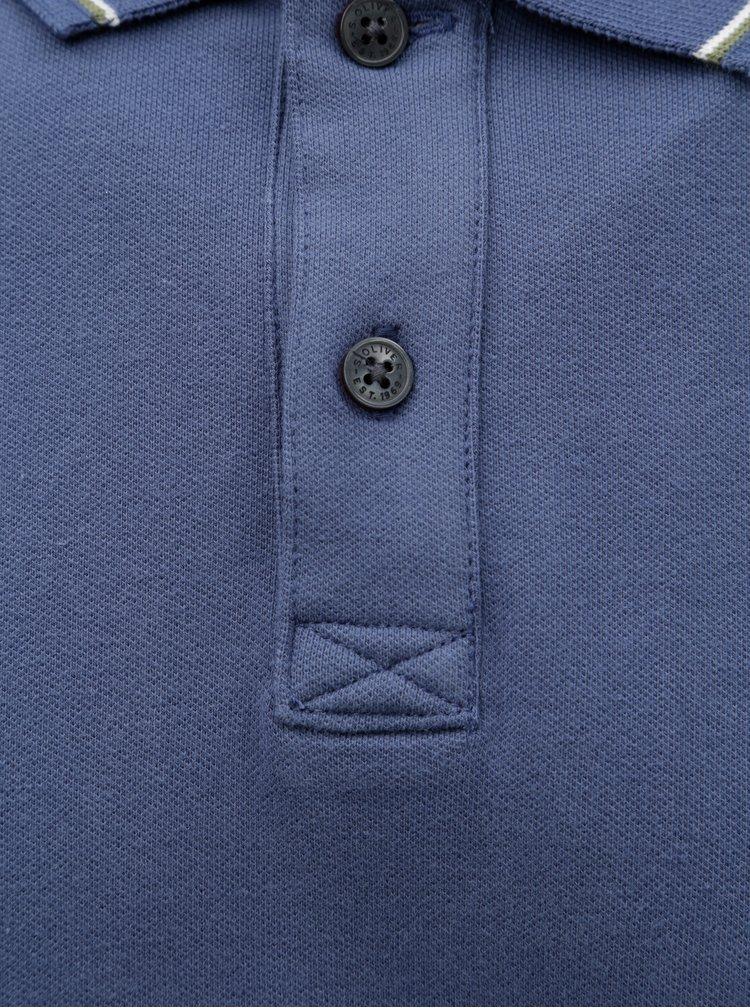 Tricou polo barbatesc slim fit albastru s.Oliver