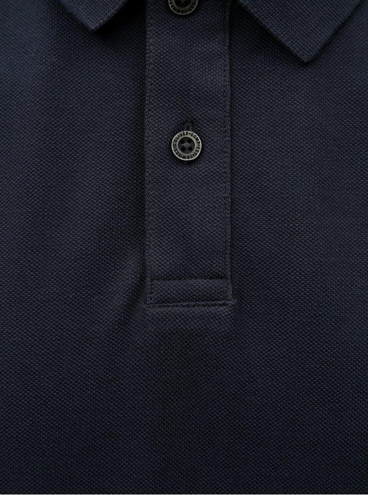 Tricou polo barbatesc regular fit albastru inchis s.Oliver
