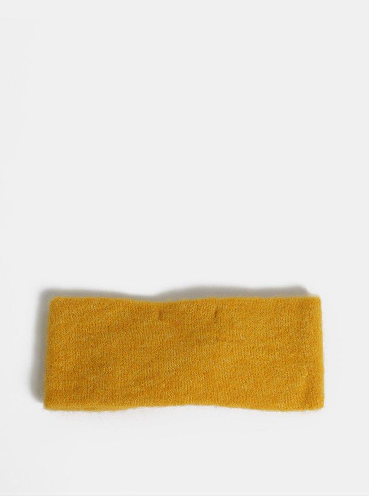 Hořčicová vlněná čelenka Pieces Josefine