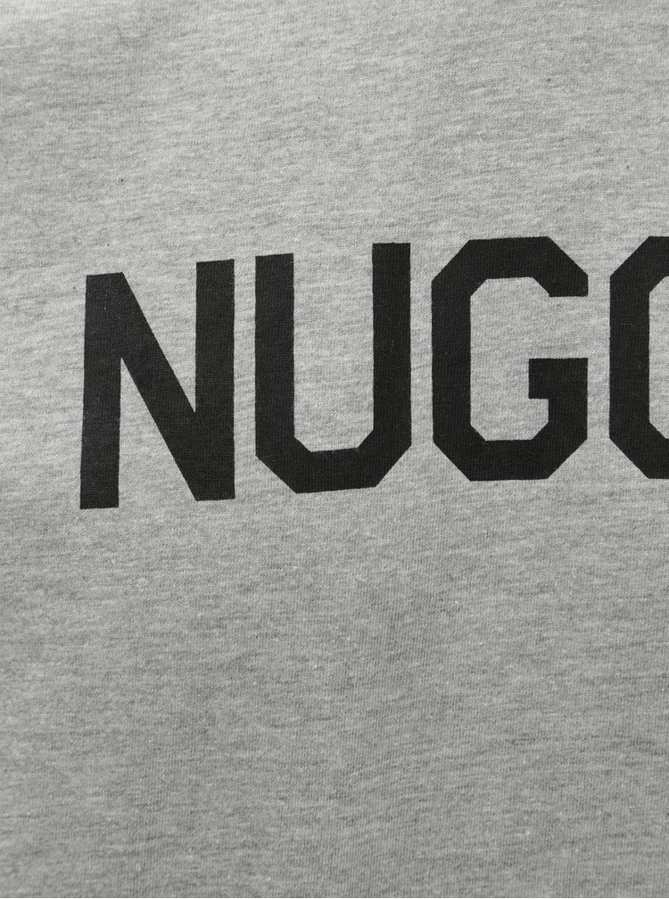 Šedé pánské žíhané tričko NUGGET Nugget