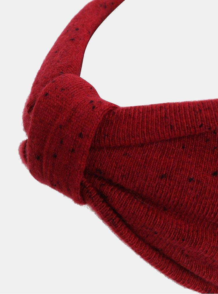 Červená čelenka s drobným vzorem Pieces Fiona