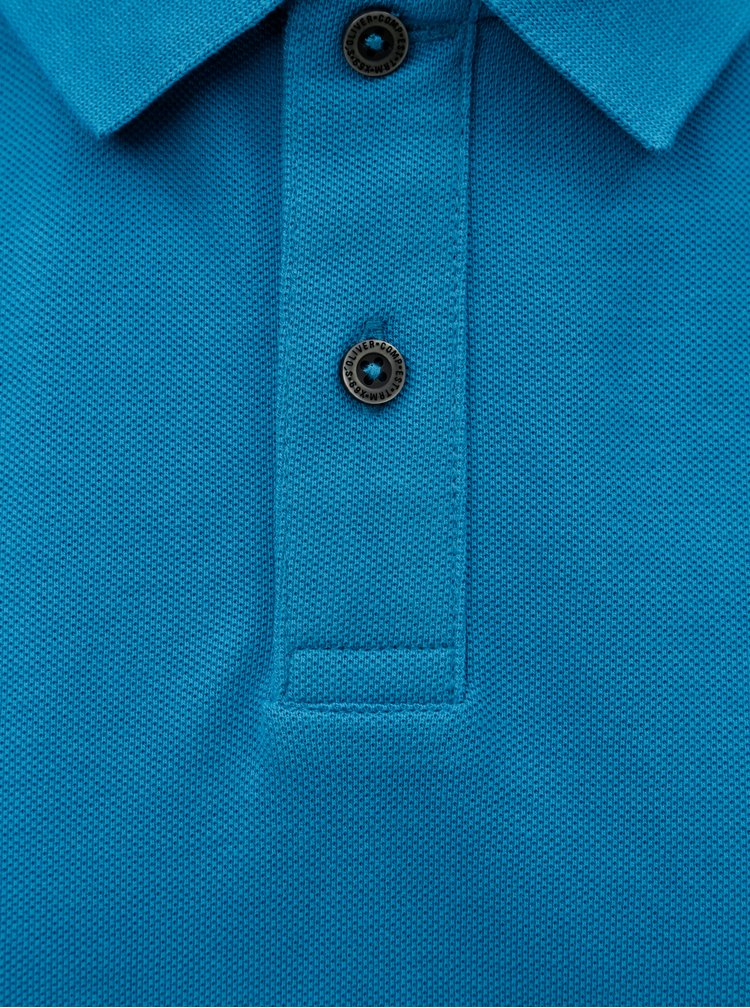 Tricou polo barbatesc regular fit albastru s.Oliver