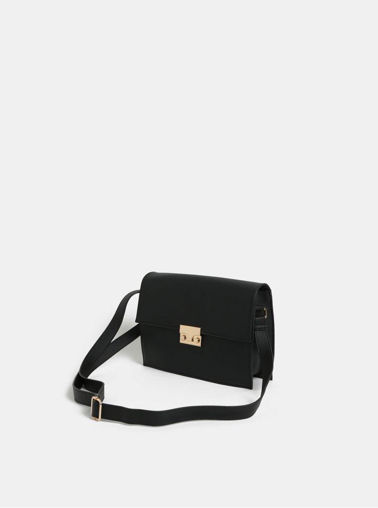 Čierna malá crossbody kabelka Pieces Fable