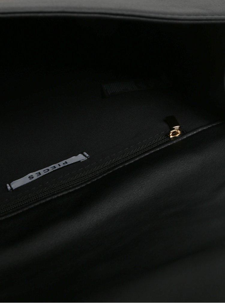 Černá malá crossbody kabelka Pieces Fable