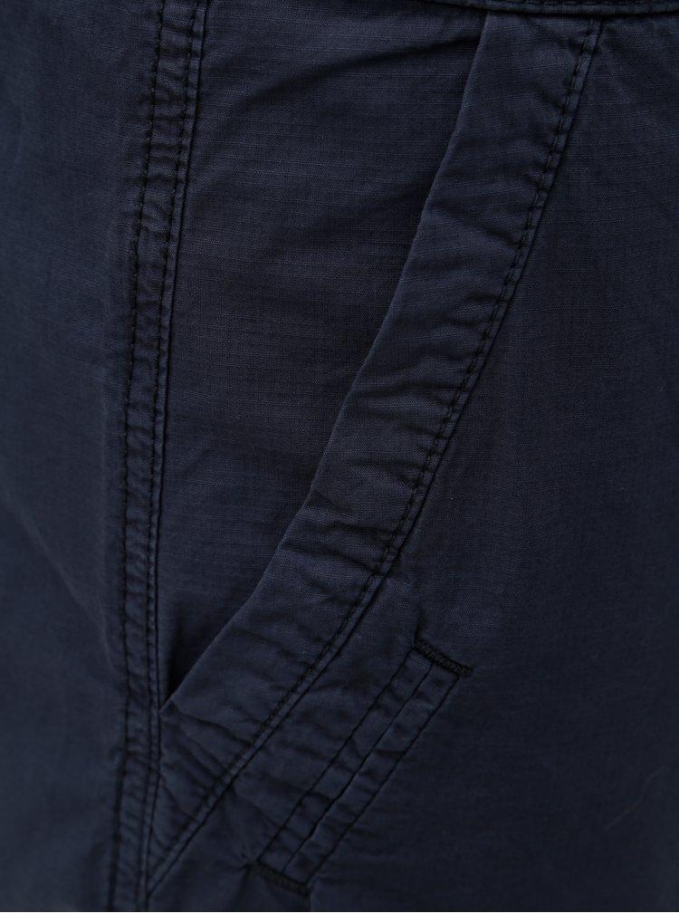 Tmavě modré pánské straight kraťasy s kapsami s.Oliver
