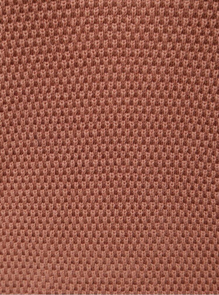 Starorůžový strukturovaný svetr VILA Chassa