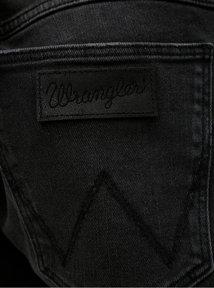 Blugi negri din denim cu aspect prespalat Wrangler Greensboro