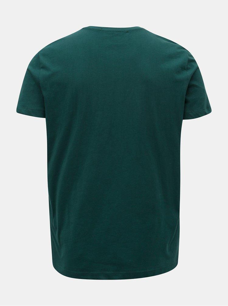 Zelené pánské tričko s potiskem Calvin Klein Jeans