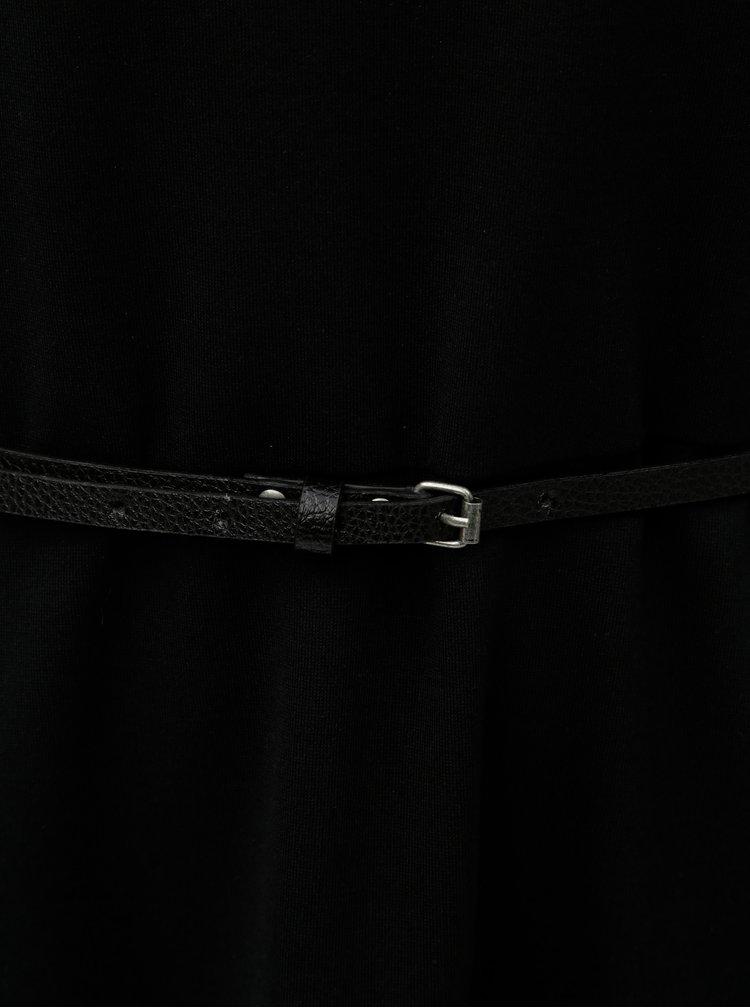 Rochie neagra cu cordon si maneci 3/4 s.Oliver