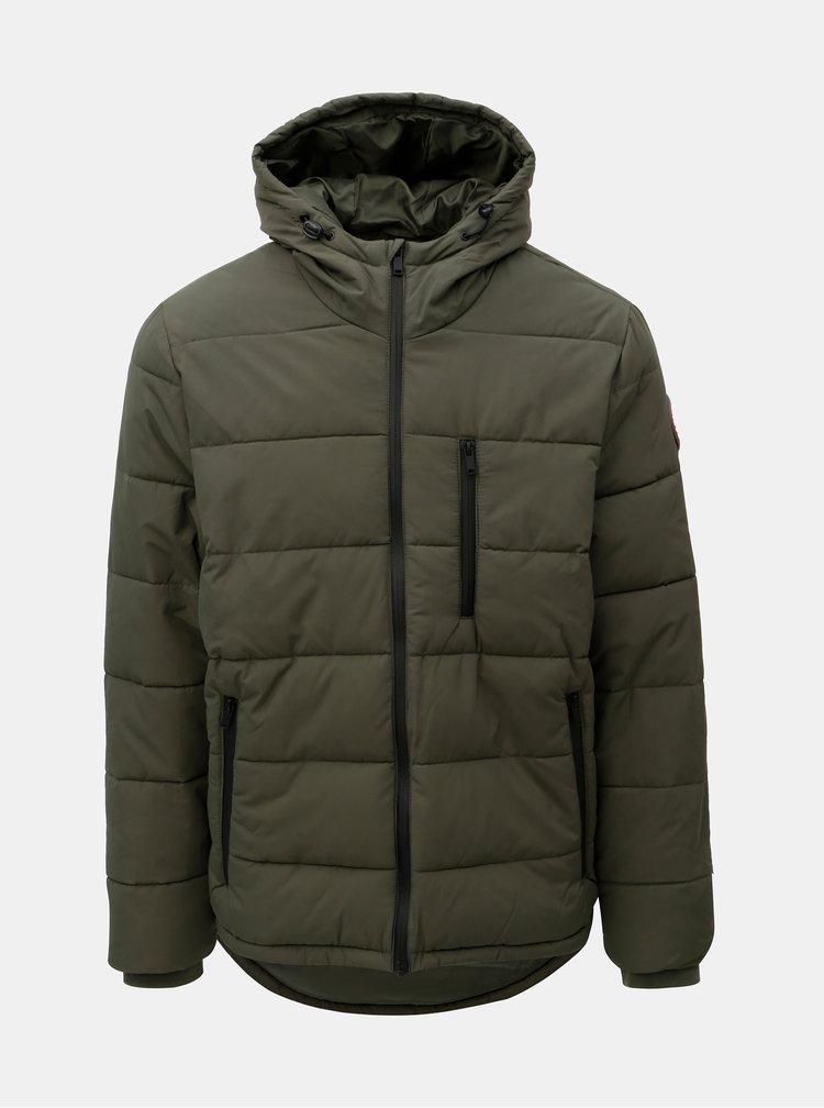 Kaki prešívaná zimná bunda Burton Menswear London Aspen
