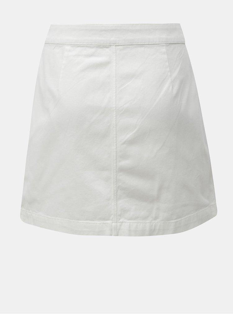 Bílá džínová minisukně s nášivkou Calvin Klein Jeans