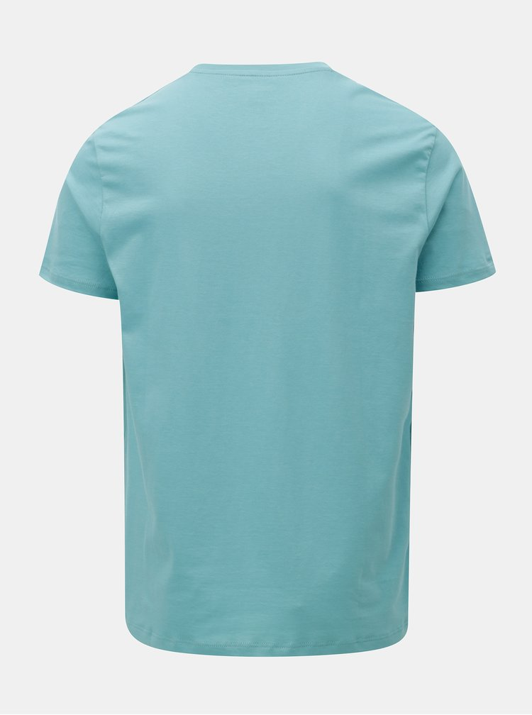 Tricou albastru deschis basic regular fit Burton Menswear London