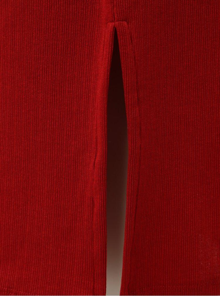 Červené šaty s rozparkem Calvin Klein Jeans