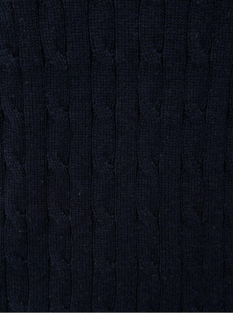 Tmavě modrý strukturovaný svetr VILA Chassa