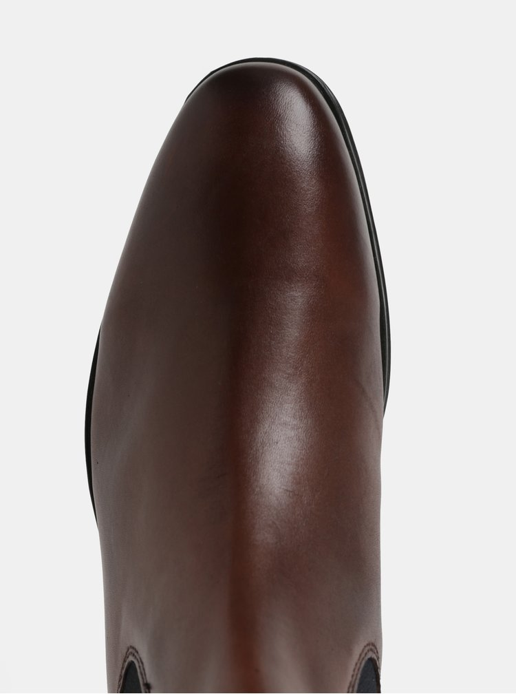 Ghete chelsea barbatesti maro din piele naturala Burton Menswear London Rafferty