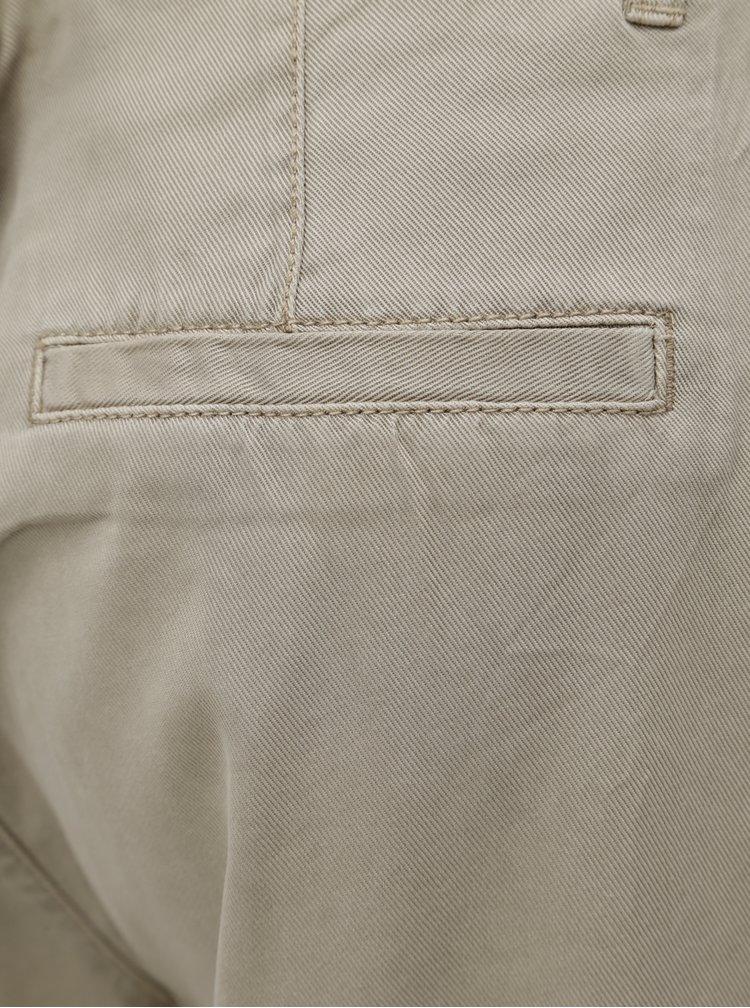 Béžové dámské zkrácené kalhoty s.Oliver